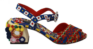 Multicolor Carretto Embellished Sandals Shoes