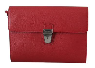 Red Classic Clutch Mens Hand Purse Pouch