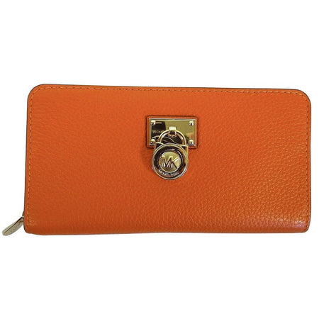 Hamilton Traveler Tangerine Pebbled Leather Large ZIP Around Wallet