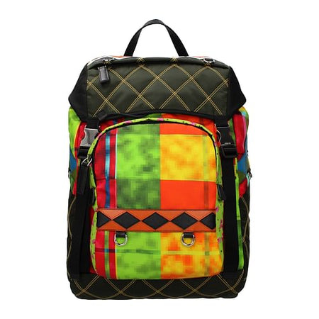 Multicolor Print Backpack and Bumbag