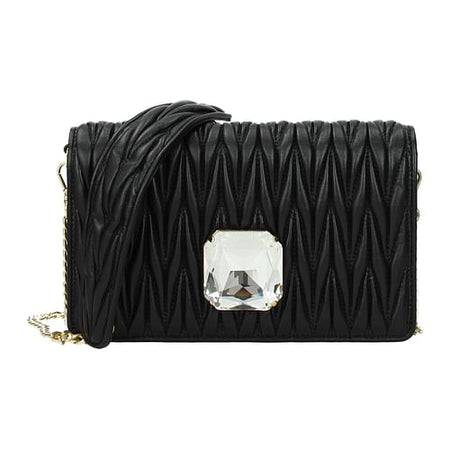 Black Leather Corssbody Bag