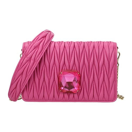 Fuchsia Leather Corssbody Bag