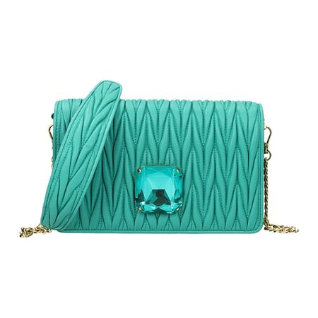 Turquoise Leather Corssbody Bag