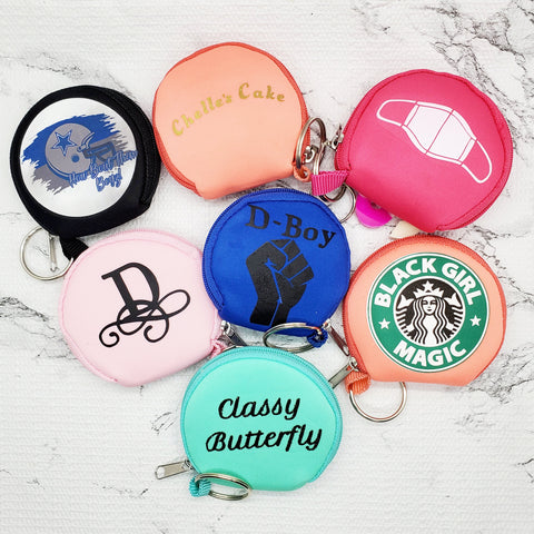 Personalized Face Covering Keychain Case (Face Mask Pouch)