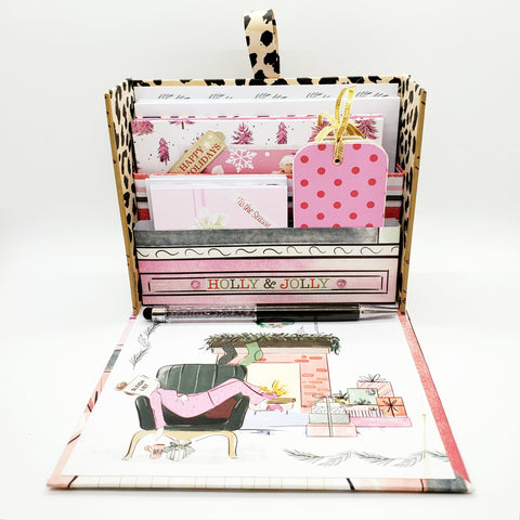 Stationery Box Set- Pink Leopard Girl