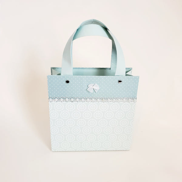 Seafoam and Pearl Paper Purse