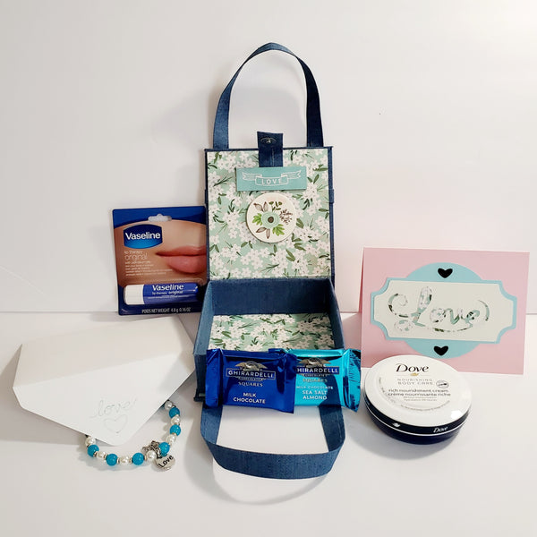 Denim Box Style Purse Gift Set