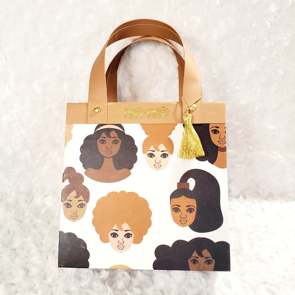 African American Women Paper Purse Gift Set