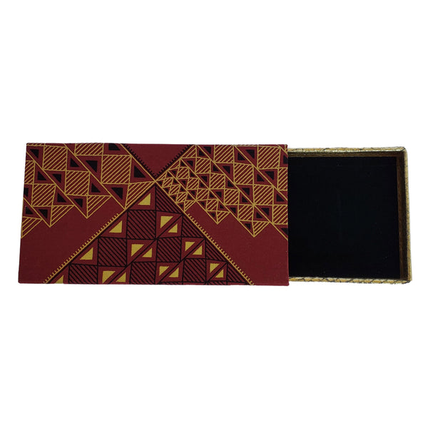 African print fabric covered box