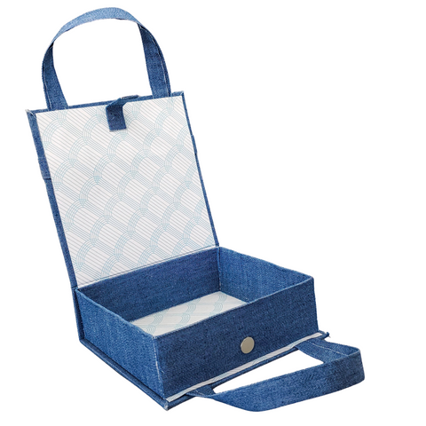Box style denim paper purse