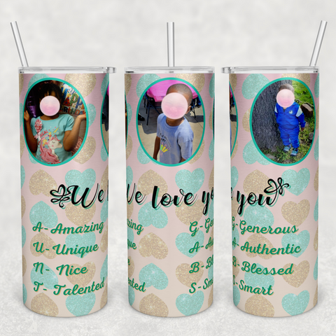 Personalized 20oz Stainless Steel Tumbler