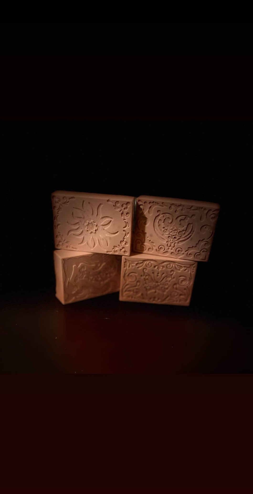 Rose water clay soap