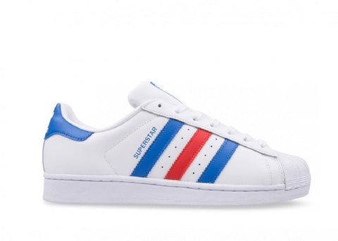 Adidas Superstar Originals White-Blue-Red