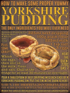 "8 x 6"" Metal Wall Sign - Yorkshire Pudding"