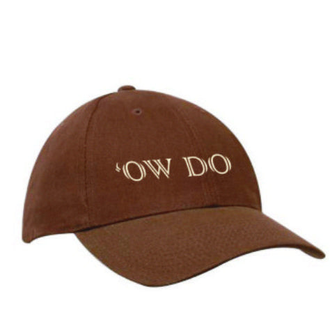 Brown heavy cotton baseball cap, embroidered with the Yorkshire phrase