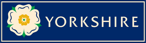 Car sticker featuring the Yorkshire Rose