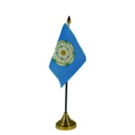 Yorkshire Desk Flag with stand - the perfect gift.