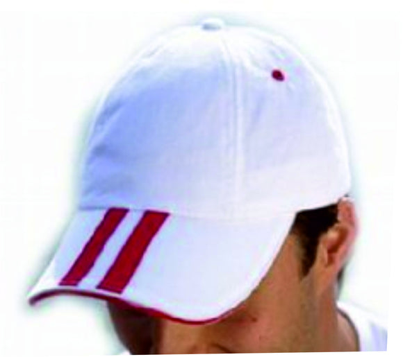 White England baseball cap featuring a sandwich peak in red and the St Georges flag at the back