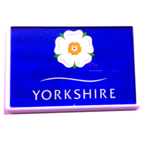 Clear acrylic fridge magnet with a design of the Yorkshire Rose