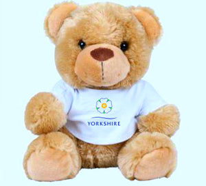 NEW.   Yorkshire Mumbles 20cm Teddy Bear with printed t/shirt