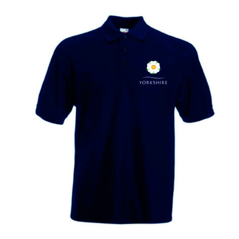 Yorkshire Rose Navy Polo Shirt