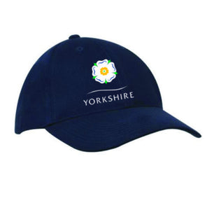 Yorkshire Rose heavy brushed cotton baseball cap