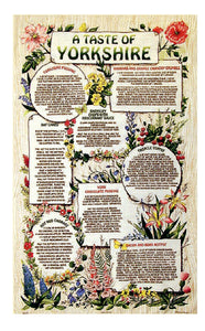 Cotton t/towel, featuring Yorkshire recipes , including Yorkshire pudding and Barnsley chops