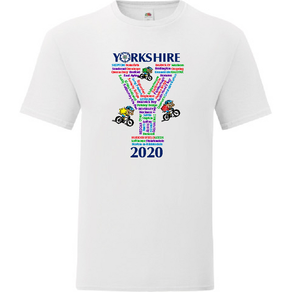 NEW! 2020  Yorkshire Tour Cotton Tee shirt *Collectors Item*