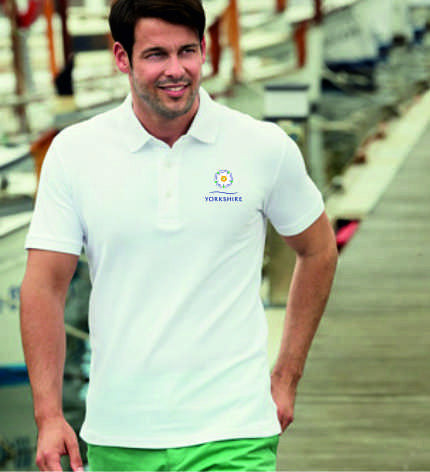 Yorkshire White Polo Shirt