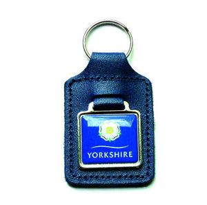 Yorkshire Rose Decal Key Fob