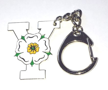 Enamel Keyring featuring the Y of Yorkshire, together with the Yorkshire Rose