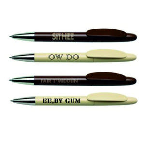 Yorkshire Dialect Ballpens.  Pack of 4
