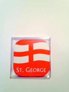 Pack of 6 England square coasters.