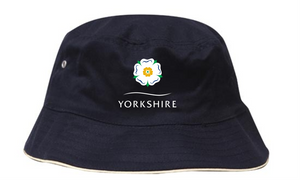 Yorkshire Rose Navy Bucket Hat