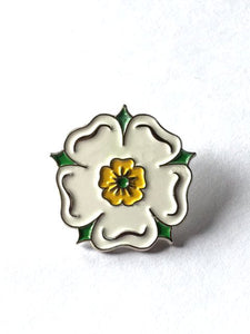 White Rose Enamel Badge