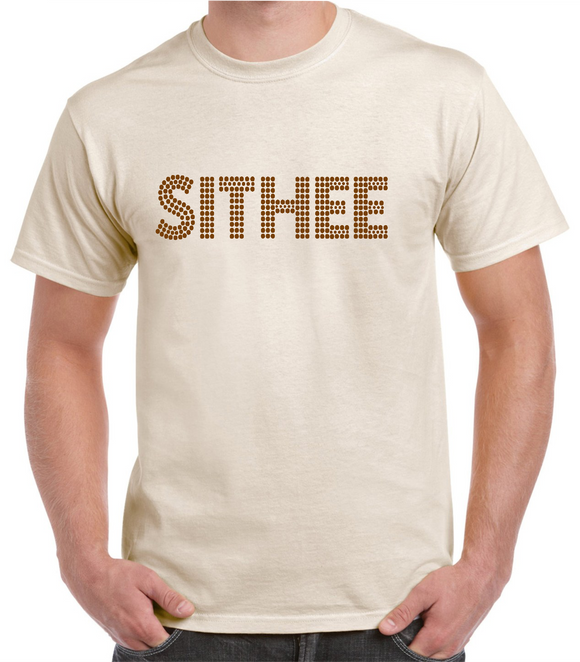 Yorkshire t.shirt in natural cotton, printed with a dialect phrase