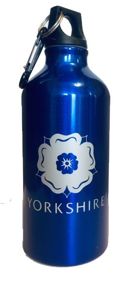 Yorkshire Rose Metal Water Bottle with Carabineer