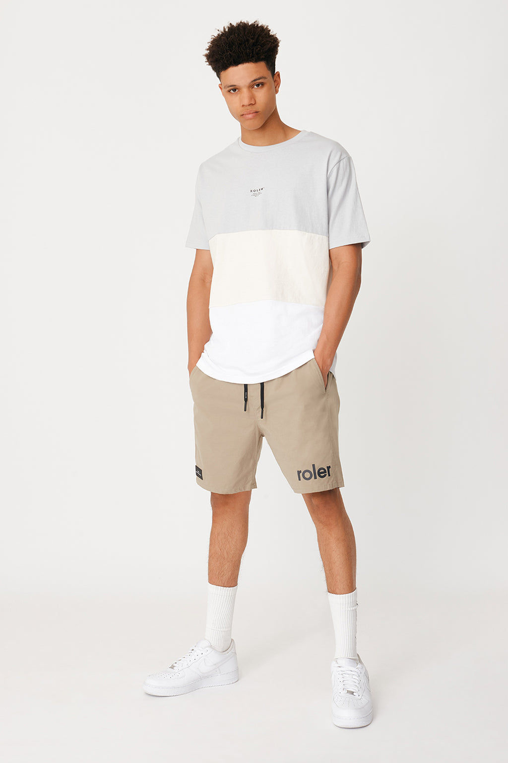 The Van Ness Tee - Light Grey - Roler Clothing