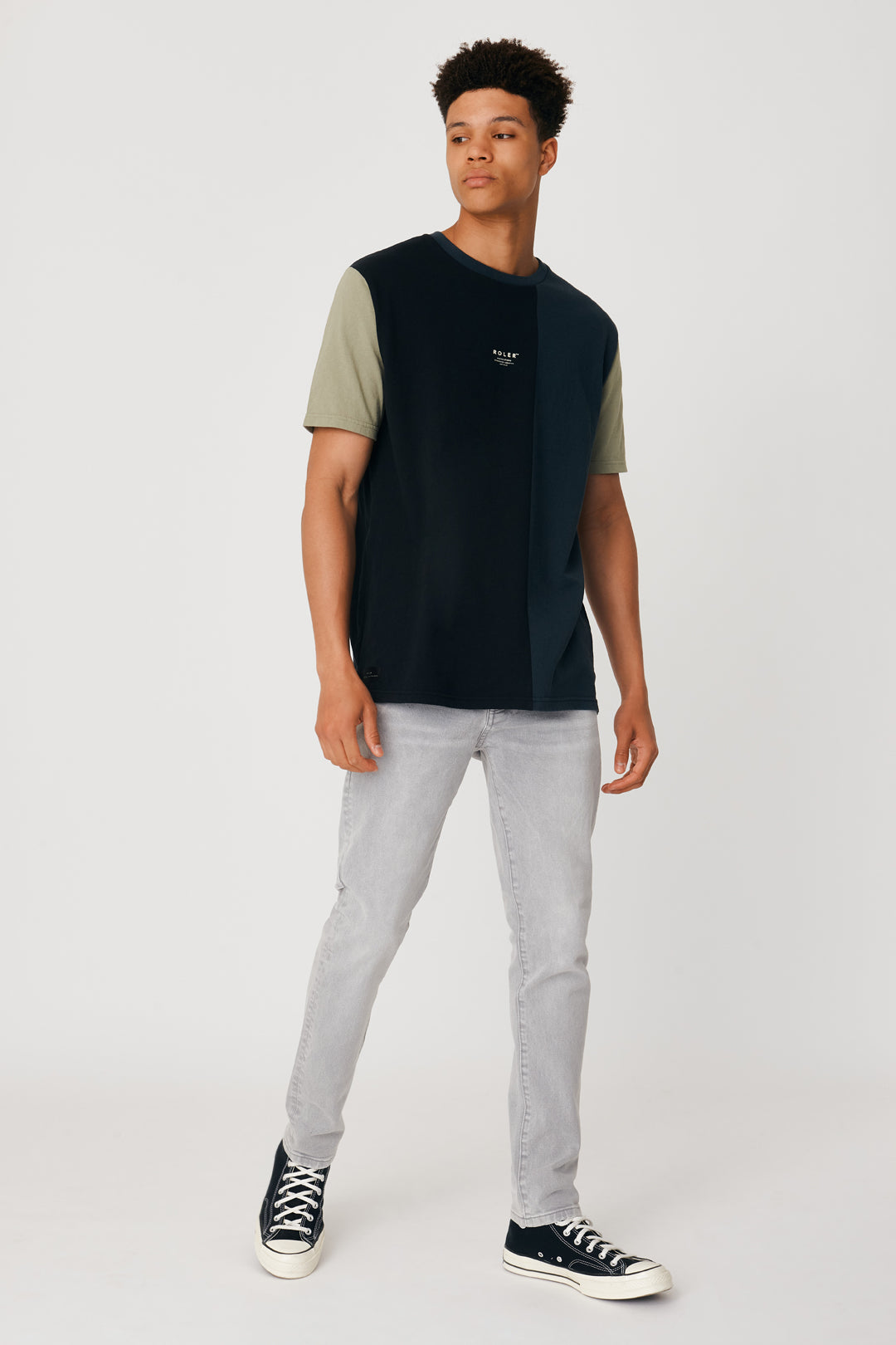 The Brannan Tee - Black Teal - Roler Clothing