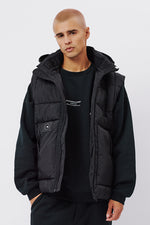 The Warren Puffer Vest - Black