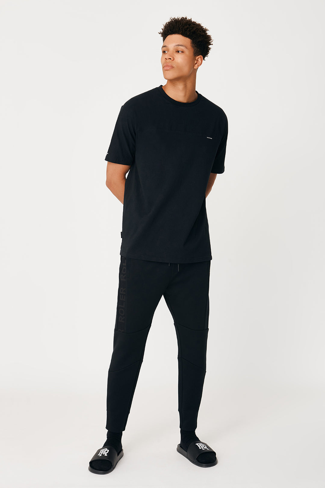 The Monza Trackie - Black - Roler Clothing