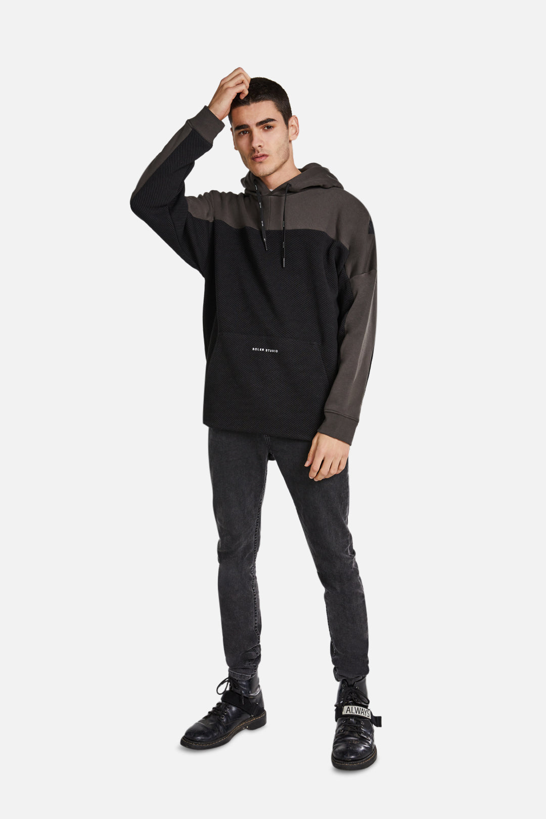The Melli Hoodie - Black/Evergreen - Roler Clothing