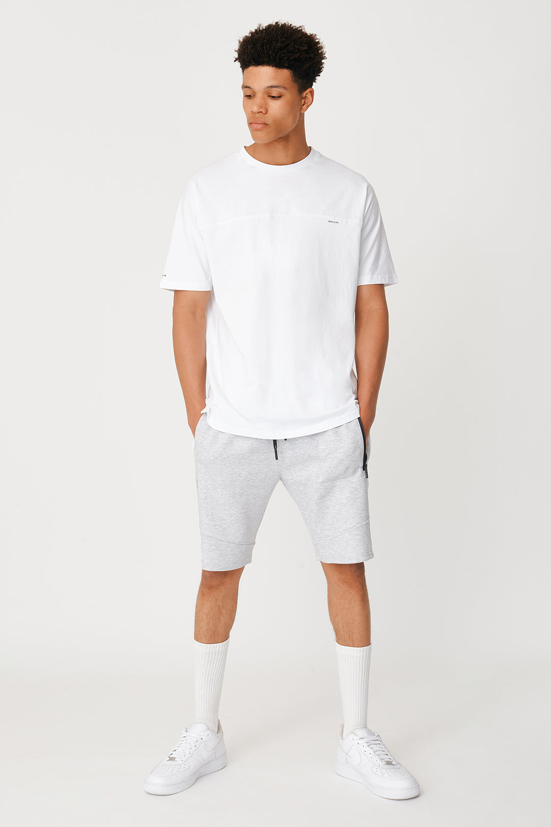 The Kewen Short - Light Grey Marle - Roler Clothing