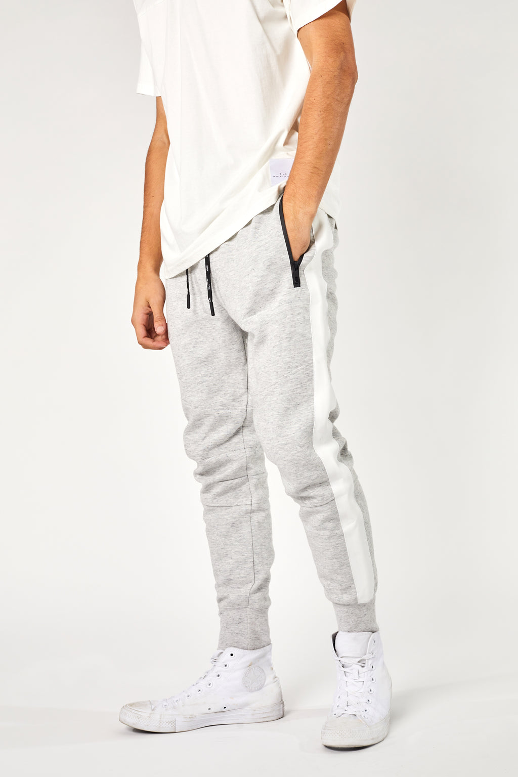The Kewen Trackie - Light Grey Marle - Roler Clothing
