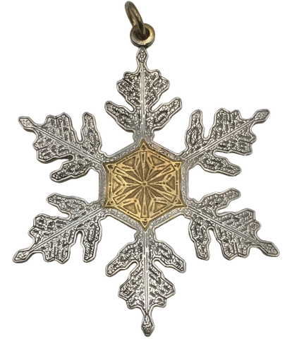Buccellati Sterling Silver Christmas Ornament 1995 Snowflake Motif