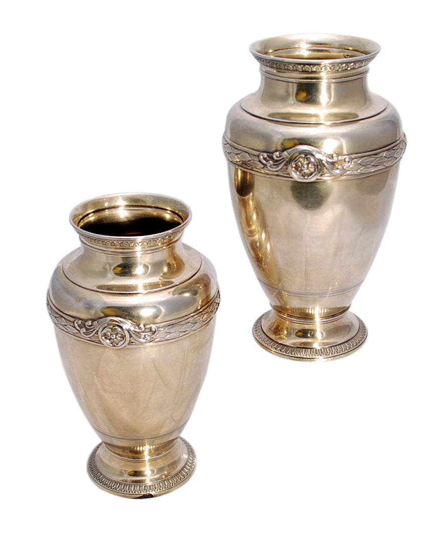 Pair of French Gilt Silver Vases / Centerpieces by Boin-Taburet