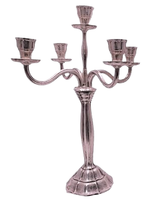 German Five Light Silver Candelabra in Jugendstil Style
