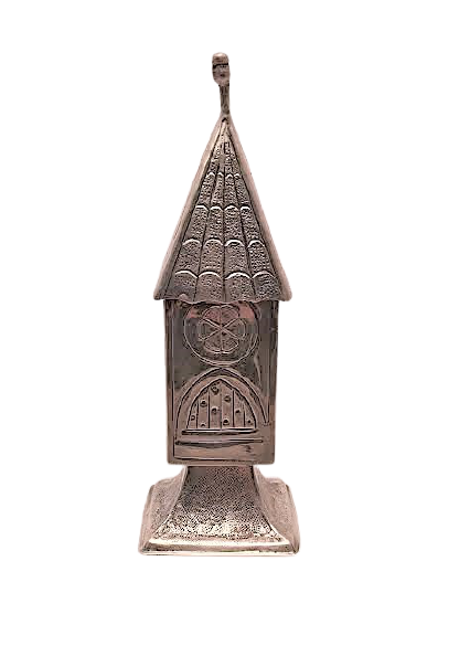 Pagoda Sterling Silver Judaica Spice Tower / Besamim Box