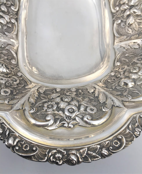 Sterling Silver Bridal Flower Basket / Centerpiece Bowl by Henry Herbert, 1823