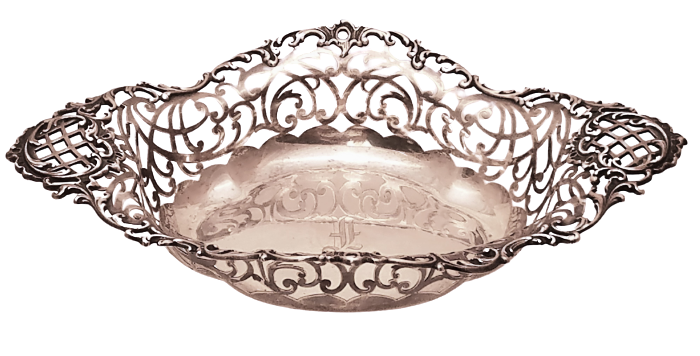 Mermod & Jaccard Pierced Sterling Silver Fruit Bowl
